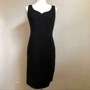 WHBM 2 piece black dress set with a cropped top